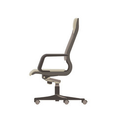 Office chair flat icon isolated furniture side vector