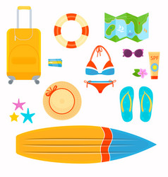 on the theme of travel vacation vector image