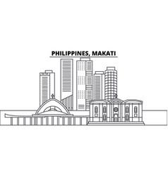 philippines makati line skyline vector image