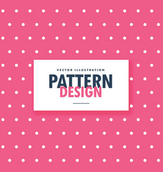 pink polka style dots background vector image