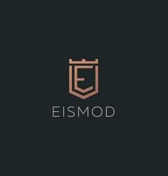Premium monogram letter e initials logotype vector