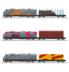railway freight transportation vector image