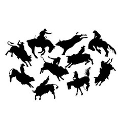Rodeo Silhouettes vector