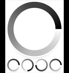 Round preloader buffer shape circular progress vector
