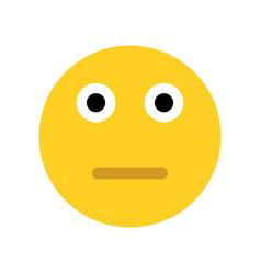 sad yellow emoji face vector image