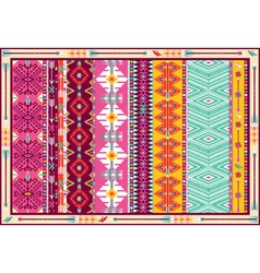 Seamless colorful aztec carpet with birds vector image
