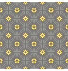 seamless pattern gray and yellow vector image