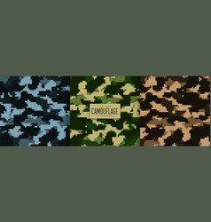 set military camouflage pattern texture vector image
