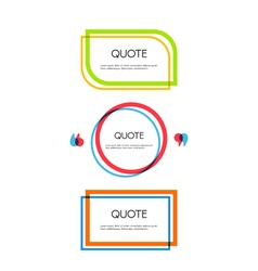 Set of quote text bubbles Quote blank template vector