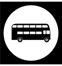 Simple double decker bus public transpor icon vector