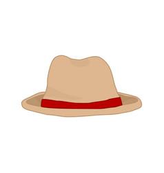 simple stylish tourist hat fashion style item vector image