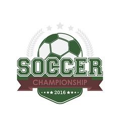 Soccer championship emblem vector image