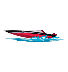 Speed motorboat sea or river vehicle sport vector
