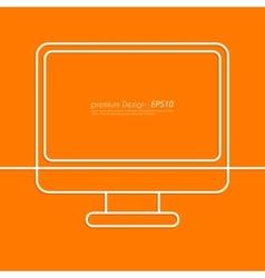 Stock Linear icon computer vector image