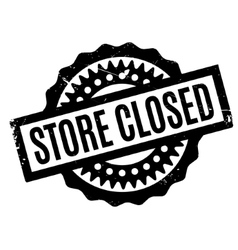 Store Closed rubber stamp vector