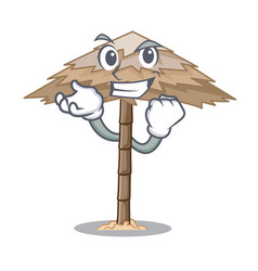 Successful character tropical sand beach shelter vector