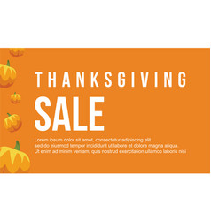 Thanksgiving style on orange background vector
