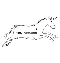The unicorn vintage vector