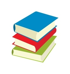 Three books flat icons vector
