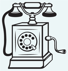 Vintage old telephone vector image