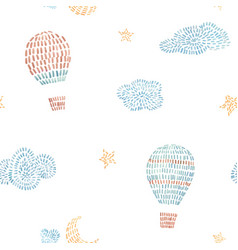 watercolor seamless pattern with air vector image