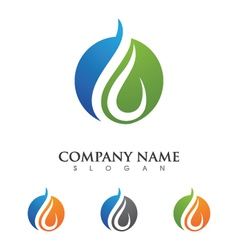 Wave water droplet element icons business logo vector