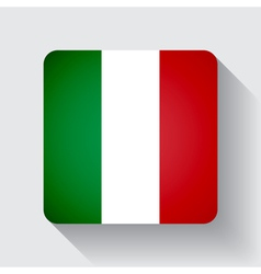 Web button with flag of italy vector