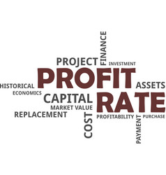 Word cloud - profit rate vector