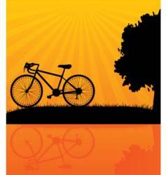 bicycle orange vector image vector image