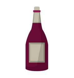 bottle wine alcohol drink vector image