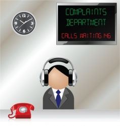 complaints department vector image vector image