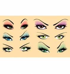 beautiful makeup vector image