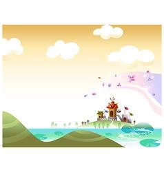 Castle Landscape Background vector image