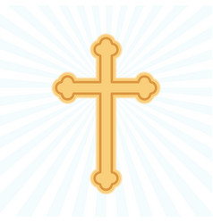 religion cross flat icon vector image vector image