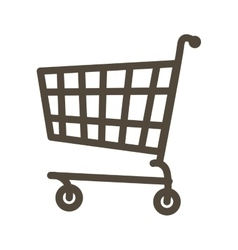 Shopping cart icon graphic vector image vector image