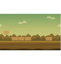background game on garden landscape vector image vector image