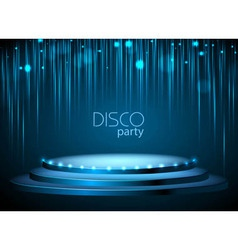Disco background vector image