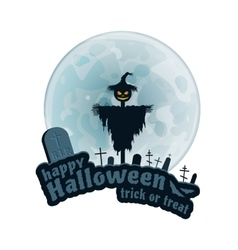 Happy Halloween Sticker vector image