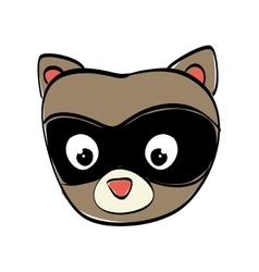 raccoon cartoon icon cute animal design vector image vector image