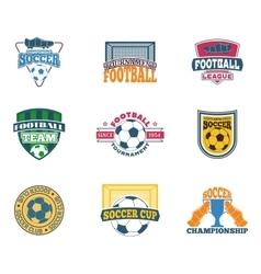 Soccer sign set vector image vector image