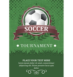Soccer tournament background Design with soccer vector image vector image