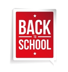 Back to School sign speech bubble vector image