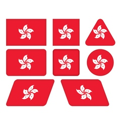 buttons with flag of Hong Kong vector image