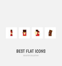 Flat icon chocolate set of shaped box sweet vector