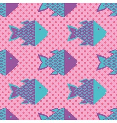 Funky fish pattern vector image vector image