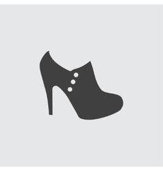 High heeled shoe icon icon vector image vector image