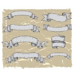 ketch of ribbon vector image