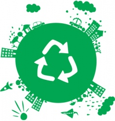 recycle planet vector image vector image