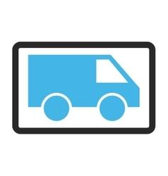 Van Framed Icon vector image