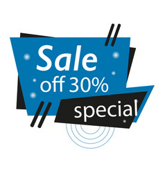 Abstract blue black sale banner template design vector